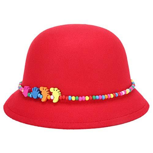 CHENGWJ vrouwen fedora voelde wollen winter herfst meisjes dames Fedoras top jazz hoed eenvoudige effen kleur heerlijk bowler hoeden ronde caps voor kind