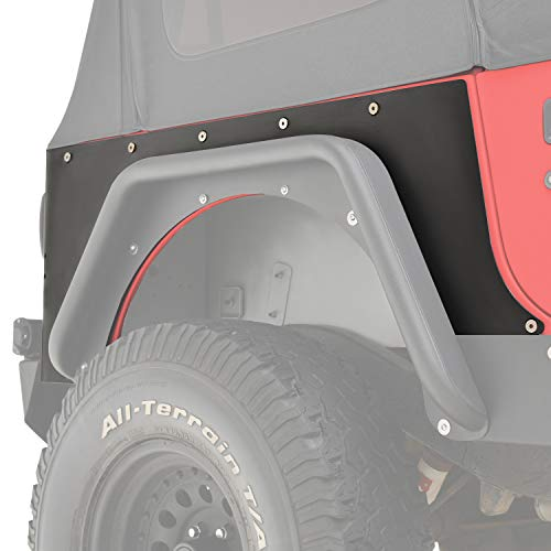 KML Steel Rear Corner Guard Rock Metal Armor Fit for 87-95 Wrangler YJ
