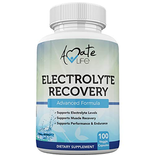 Electrolyte Capsules Infused with Vitamin D3, Magnesium, Potassium and Calcium Supplement Supports Muscle Recovery, Performance & Endurance - 100 Vegetable Capsules | Made in USA by Amate Life