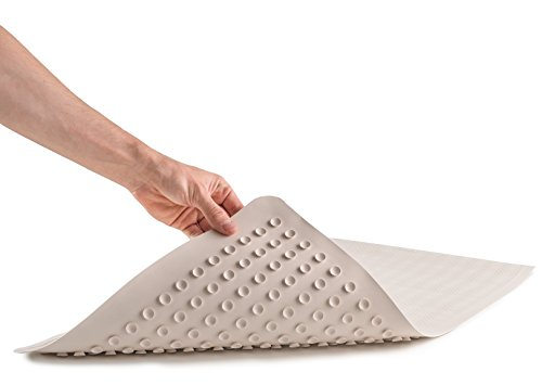 Epica Anti-Slip Machine Washable Anti-Bacterial Bath Mat 16' x 28' Natural Rubber