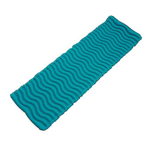 Colchoneta para acampar a prueba de humedad al aire libre, tienda de campaña, colchón de aire portátil para descanso y almuerzo, impermeable ligero (color: azul)