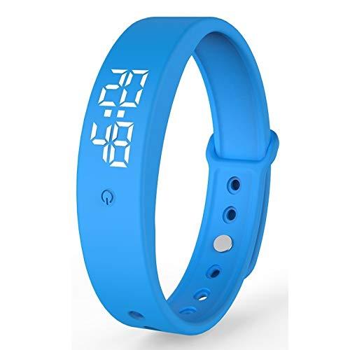 YEYOUCAI Fitness Tracker V9 0.96 pulgadas color pantalla temperatura reloj inteligente IPX57 impermeable, soporte automático medición de temperatura/vibrar despertador/temporizador