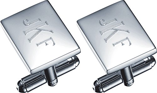 Visol Personalized Fedir Silver Plated Cufflinks with Free Engraving