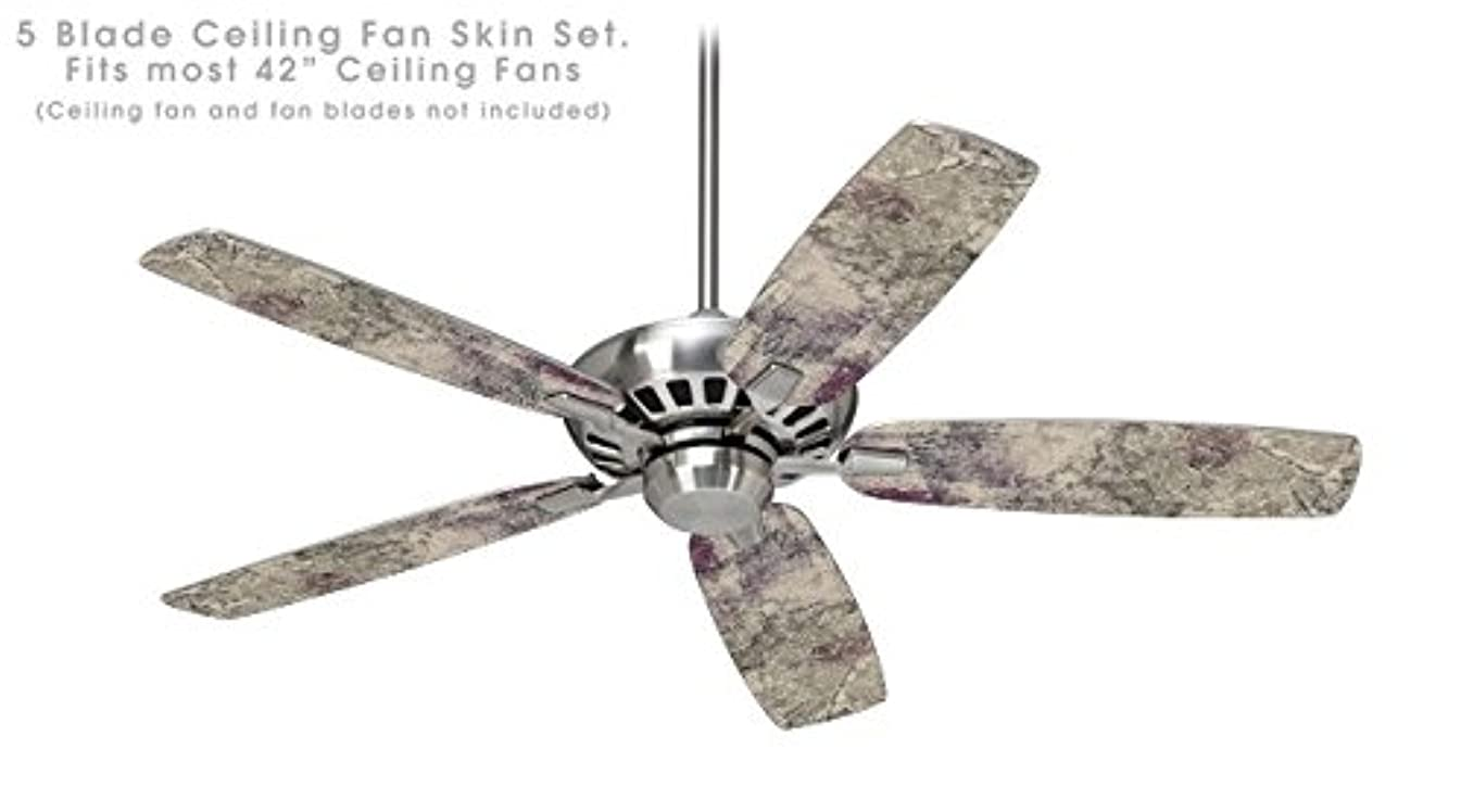 Pastel Abstract Gray and Purple - Ceiling Fan Skin Kit fits most 42 inch fans (FAN and BLADES NOT INCLUDED)