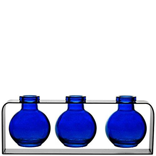 Couronne Company M507-200-21 Deko-Vase, Violett Modern Kobaltblau