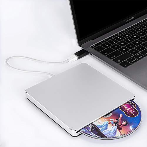 Somdar External CD Drive, Portable USB CD DVD Writer Reader Player Burner,Optical Drives Low Noise for Laptop/Mac/MacBook Pro/Windows