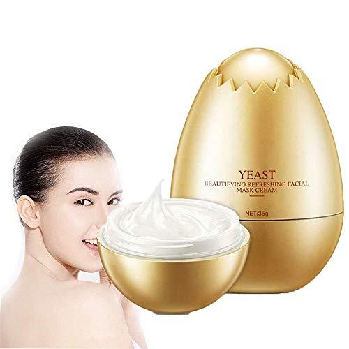 Ei-Hefe-Masken-Creme, Feuchtigkeitsspendendes Festziehen, Aufhellende Hautgesichtscreme für die Hautpflege. (2 Pcs)