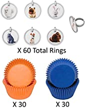 SECRET LIFE OF PETS Cupcake Toppers and Liners - Rings with Coordinating Baking Cups - Enough for 60 Cupcakes