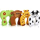Onsafe 5 PCS Door Stopper Guard and Accidental Door Lock Protection   Window Guard for Baby Safety - Multi Color