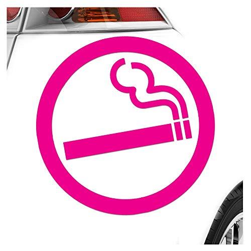 Kiwistar Autocollant pour vitre arrière de voiture Motif fumeur 3 tailles au choix, PINK-41, 40 x 40 cm