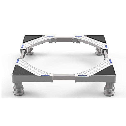 XQKQ Base Ajustable Multifuncional con 4 Bases extraíbles para Lavadora, Cocina, Secadora y frigorífico (Carga de 300 kg).