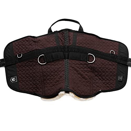 CHRIST Fellsattel Iberica Plus Handarbeit gefertigter Baumloser Sattel/Lammfellsattel im spanischen Stil, Wollhöhe 30mm, Größe: Warmblut, in braun - 3