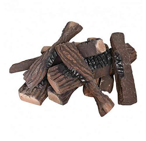 Amazing Deal Sunil Imitation Wood Fireplace Ceramic Propane 10 Pcs
