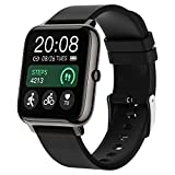 Smart Watch, Popglory Smartwatch with Blood Pressure, Blood Oxygen Monitor, Fitness Tracker with Heart Rate Monitor,...