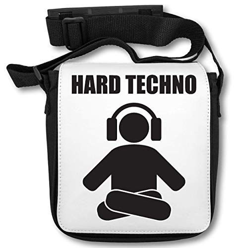 Hard Techno Logo Music Series Simple Headphones Beast Mode ON schoudertas
