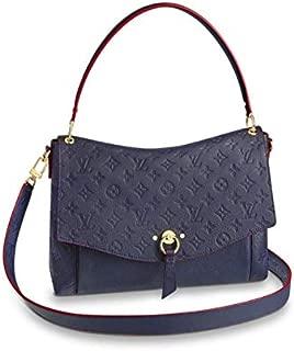 LV Loui Vuitton Monogram Empreinte Blanche MM Bag Marine Rouge