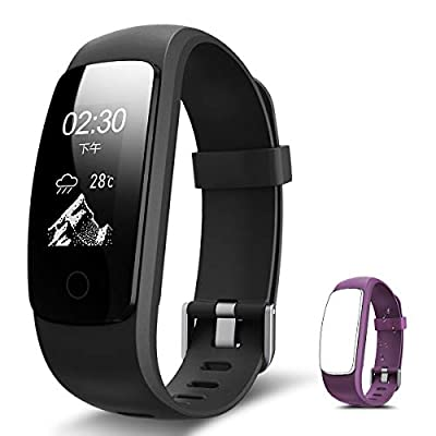 RONTEN Fitness Tracker, R7 Plus Fitness Watch with Heart Rate Monitor, Waterproof Activity Tracker, Wireless Bluetooth Smart Bracelet with Replacement Strap for Android & iOS