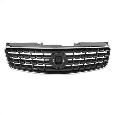 CarPartsDepot Replacement Parts Front Grille Grill Matte Black Chrome Trim Molding 400-36381 NI1200213 62070ZB000
