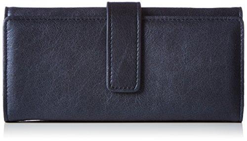 Liebeskind Berlin Damen Leonie glossy metallic suede Geldbörsen, Blau (dark blue 0108), 19x9x4 cm