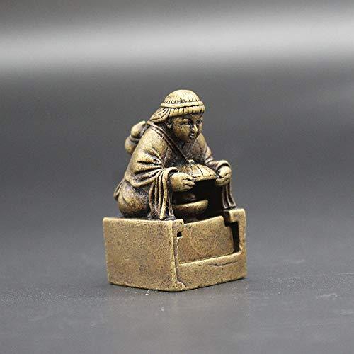 ZTIANEF Escultura Estatua De La Escultura Sello Antiguo Jueg