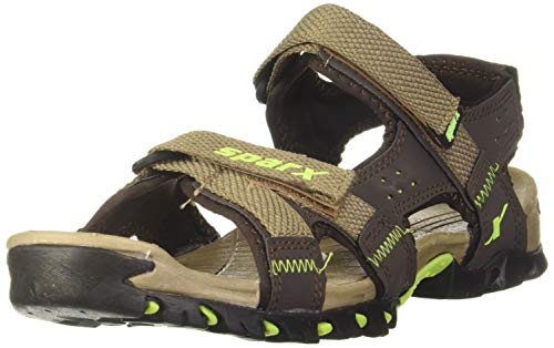 Sparx Most Sylish and Trending Sandal 447 Camel Green UK-10