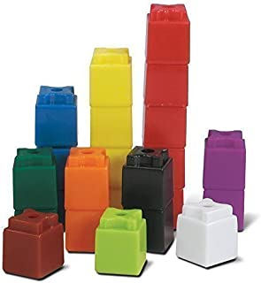 hand2mind 3/4-Inch Multi-Colored Linking UniLink Cubes (Set of 100)