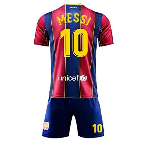 2020-2021 Season Kids/Youths Messi 10 Home T-Shirt&Shorts Blue