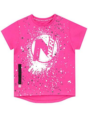 Nerf Camiseta de Manga Corta para niñas Rosa 11-12 Años