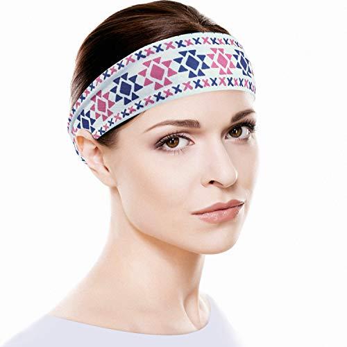 YOSUNPING Sport Headbands Mens Sweatband & Womens Hairband Moisture Wicking Workout Sweatbands for Running Cross Training Gym Yoga Basketball Working Out JH-0-19