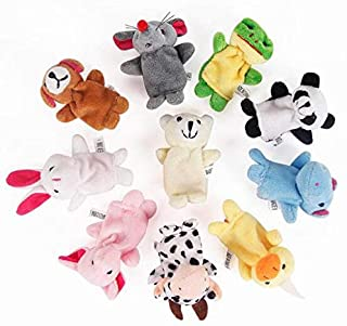 10Pcs Educational Hand Toy Cartoon Finger Puppet Cute Rabbit Animal Plush Toys Theater Show Soft Doll Props Kids Toys