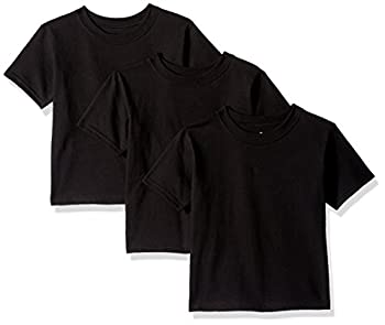 Hanes Toddler Boys  Essentials Short Sleeve T-shirt Value Pack  3-pack  Black 3T
