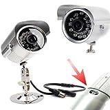 telecamera videosorveglianza con registrazione su micro SD nascosta con 24 led infrarossi visione notturna