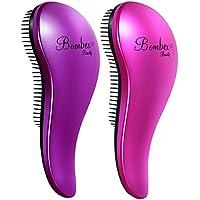 2-Piece BOMBEX Wet Detangling Hair Brush (Purple & Pink)