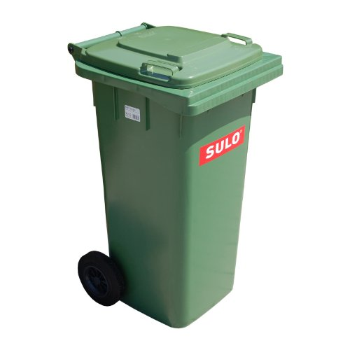 Cubo de basura 2 ruedas, contenedor a basura SULO 120 L, ver