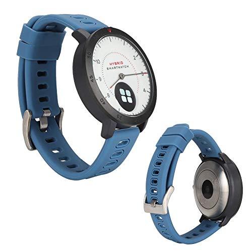 Pbzydu 0,49-Zoll-Bildschirm Ultra-Lange Standby-Zeit Multifunktions-Zeblaze HYBRID Smartwatch, Herzfrequenzmesser-Smartwatch, für Frauen-Chat Online-Anruf Mann(Blue)