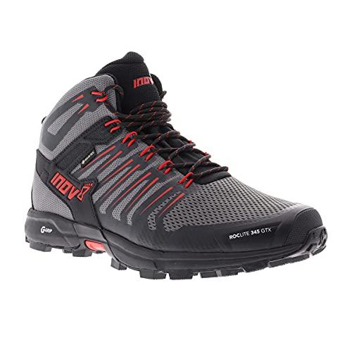 Inov-8 Men Roclite G 345 GTX, Color: Grey/Black/Red, Size: 14 (000802-GYBKRD-M-01-14)