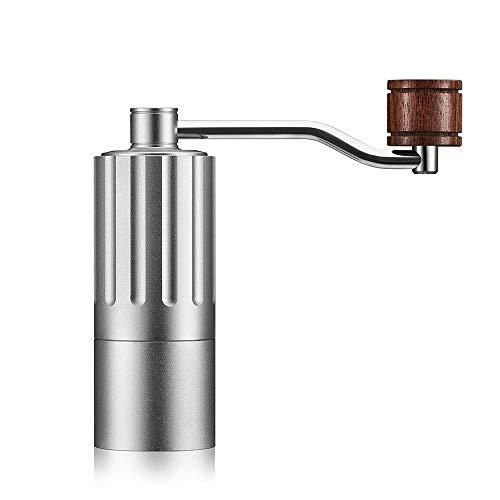 NFGHH Tragbare tragbare Kaffeemühle 304 Edelstahl Kaffeemühle,Silver