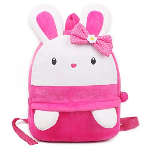 Kaninchen Rucksack, kleine Mädchen Kleinkind Mini Rucksack, URAQT niedlichen Kaninchen Bequeme weiche Tasche, Geschenk für 3-5 Jahre alte Kinder für Outdoor/Sports/Camping/Picknick Rucksäcke