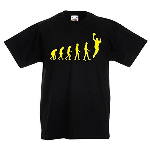 Camisas para niños evolución de Baloncesto - Canasta de la Calle, me Encanta Este Juego, Gran Fan de Regalo (12-13 Years Negro Amarillo)