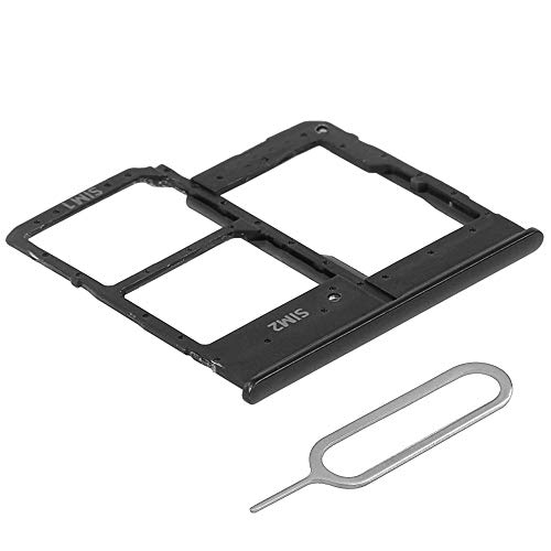 MMOBIEL Bandeja de Tarjeta Dual Sim y Tarjeta SD Ranura Compatible con Samsung Galaxy A20e A202 2019 5.8 Inch (Negro) Incl. Sim Pin