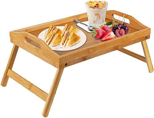 cheap Used as a bamboo tray table with foldable legs, sofa, bed, dining, breakfast tray for work, etc.