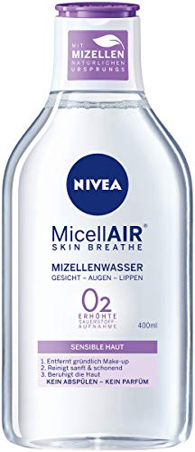 NIVEA MicellAIR Skin Breathe Mizellenwasser für sensible Haut im 4er Pack (4 x 400 ml)