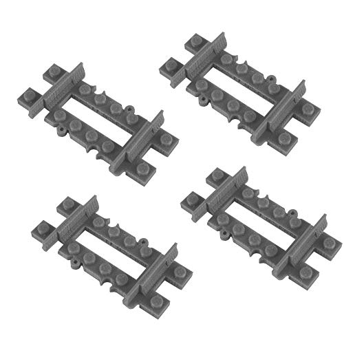 Bastens 3/16 Track Rail 4pcs for Toy Train Compatible with Lego Enlighten Slick Bricks City kit Switch Curved Splitter Flexible Half 1/2 1/4 -  3-16-track-lego-compatible
