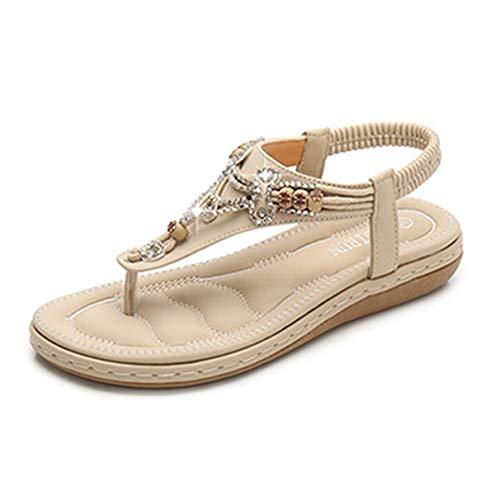 Frauen Casual Flache Sandalen Flip Flop Damen Böhmen Stilvolle Sommer Flats Schuhe