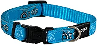 Rogz Fancy Dog Collar, Turquoise, Small