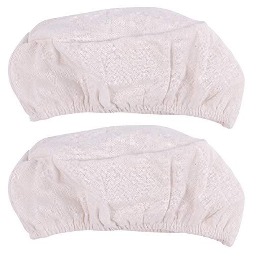 HEMOTON 2 cestas de pan, fundas de tela, cesta de fermentación, forro para panadería, cocina en casa (ovalado)