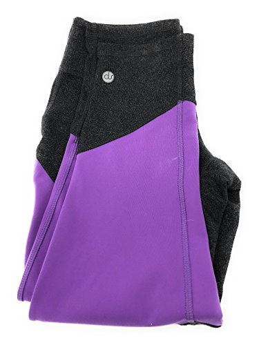 nicepipes Nice Crops Premium Yoga Pants Fitness Apparel, Apparel for Women Dark Grey and Purlpe Fuschia - Made in The USA