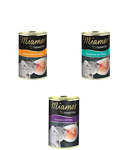 Finnern- Miamor 9St Trinkfein Vitaldrink mit 3 x Thun, 3 x Huhn, 3 x Ente 135ml