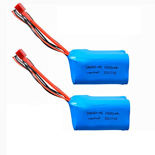 14.8V 1500mAh Lithium Battery Pack with T Plug for QS8006 RC Aircraft G.T. 53 QS 8006 Airplane Toy RC Parts QS8006-014 4S Lithium Battery 2 Pack