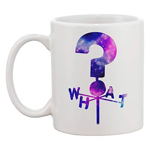What Question Mark Taza Blanca Café Té Hombres Mujeres Cerámico Coffee Tea Mug Cup